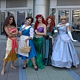 Moana, Belle, Ariel, Merida, and Cinderella