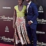 Lupita Nyong'o and Brother at The Jungle Book Premiere