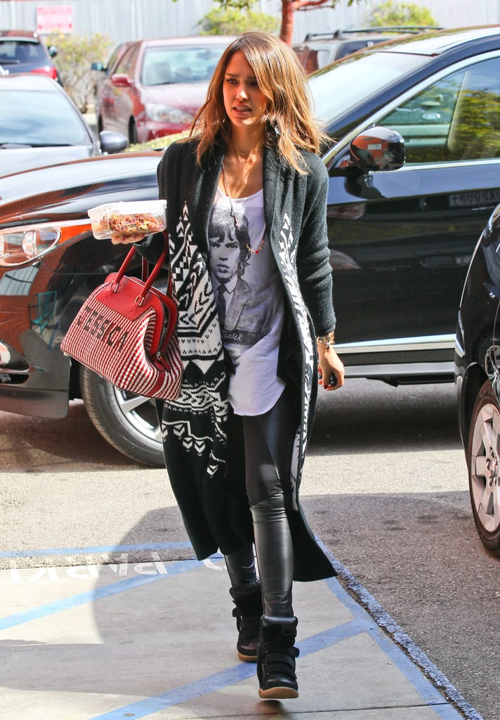 Jessica Alba in Transmission Mick Jagger Tee
