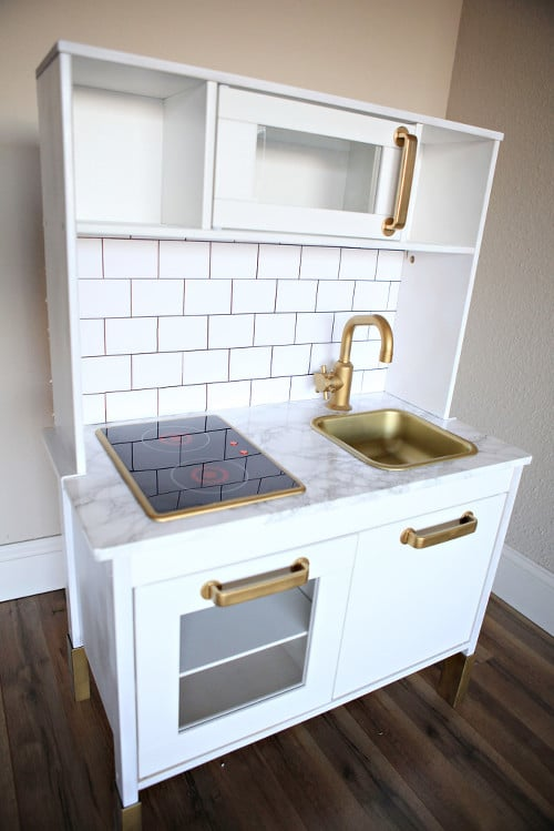 as if ikeas play kitchen 100 wasnt cute enough blogger jenny collier took the childs toy to the next level with a few ingenious designer grade hacks - Ikea Play Kitchen