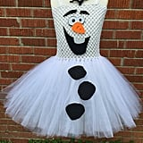 If your daughter loves goofy snowmen and shiny sparkles, this Olaf Tutu Costume ($35) is her perfect handmade Halloween outfit.