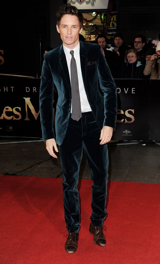 Eddie Redmayne was out in London for the Les Miserables premiere.