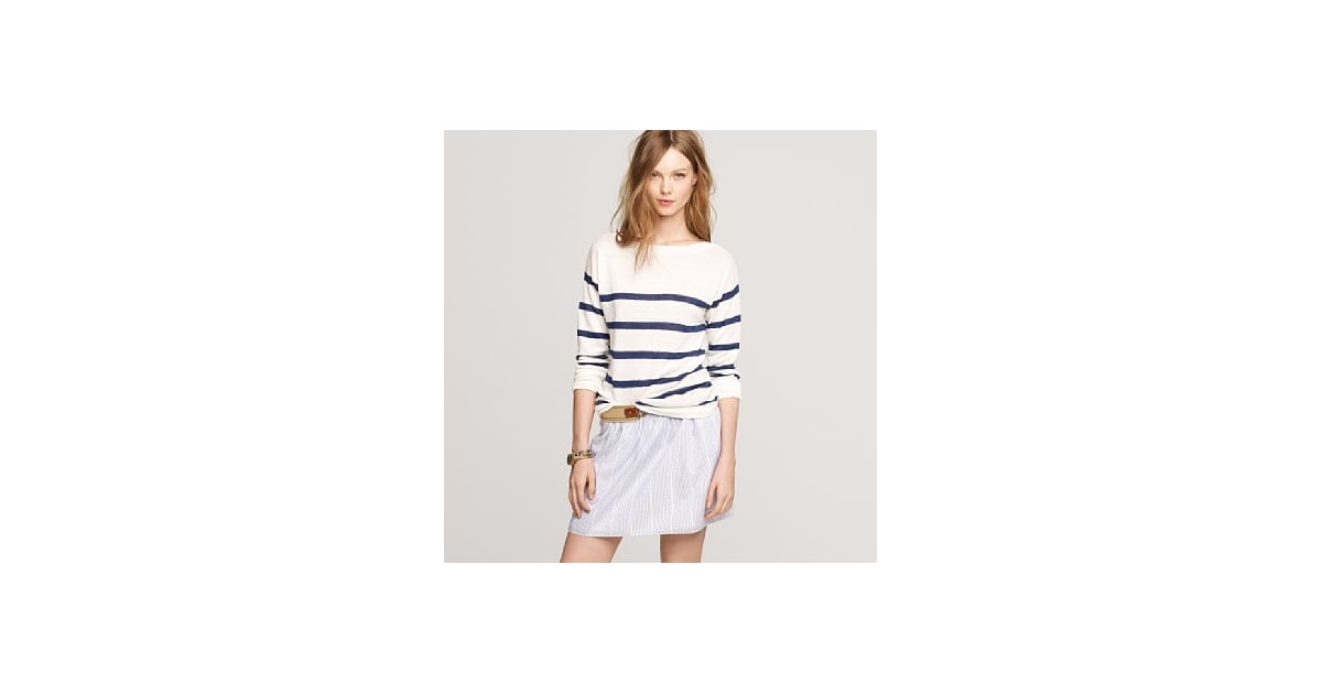 this j crew linen striped boatneck sweater 88 is ideal