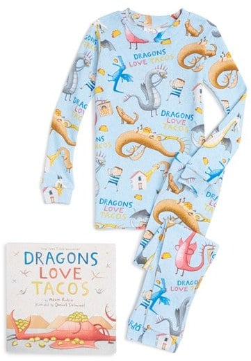 Toddler Books To Bed Dragons Love Tacos Fitted Two-Piece Pajamas & Book Set