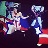 Katy Perry performing at the Kids' Inaugural Concert.