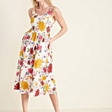 Old Navy Printed Fit & Flare Cami Midi Dress