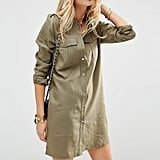 The Dress: ASOS Linen Military Shirt Dress ($57)  The Costume: An Army girl or a safari tour guide.
