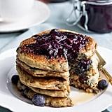 Vegan, Gluten-Free Blueberry Oatmeal Pancakes