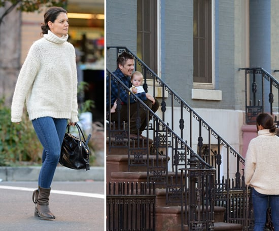 Kate Holmes Runs Into Her NYC Neighbor Ethan Hawke