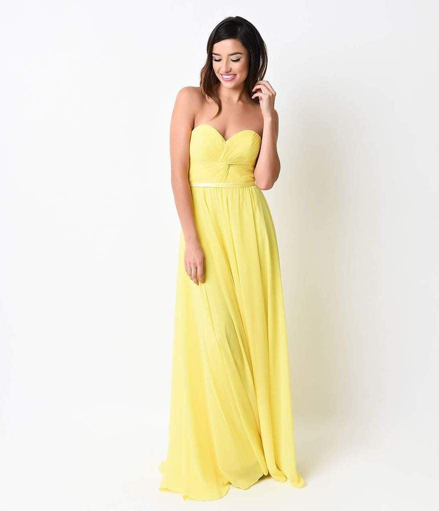 Atemberaubend Neon Yellow Prom Dress Fotos - Brautkleider Ideen ...