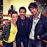 Juliette Lewis ran into Lionel Richie while shopping. Source: Twitter user JulietteLewis