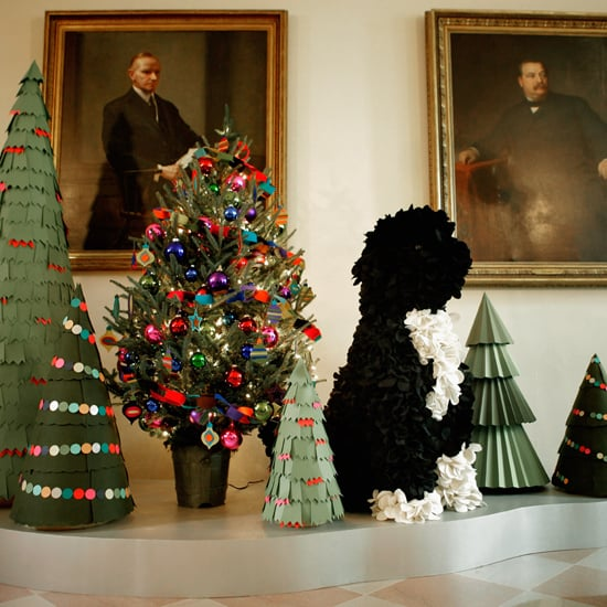Bo Obama Appears in White House 2011 Holiday Decorations