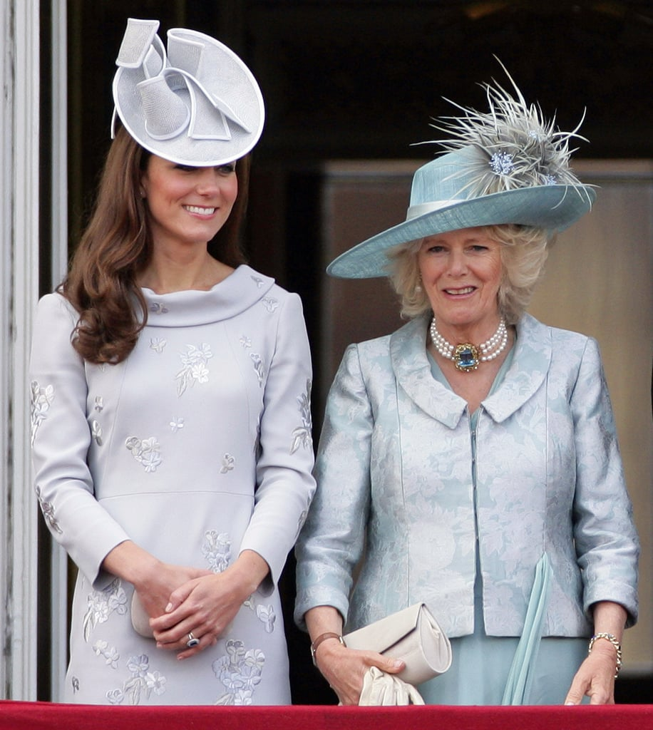 Kate Middleton and Camilla Parker Bowles at the Trooping the Color ceremony in June 2012.
