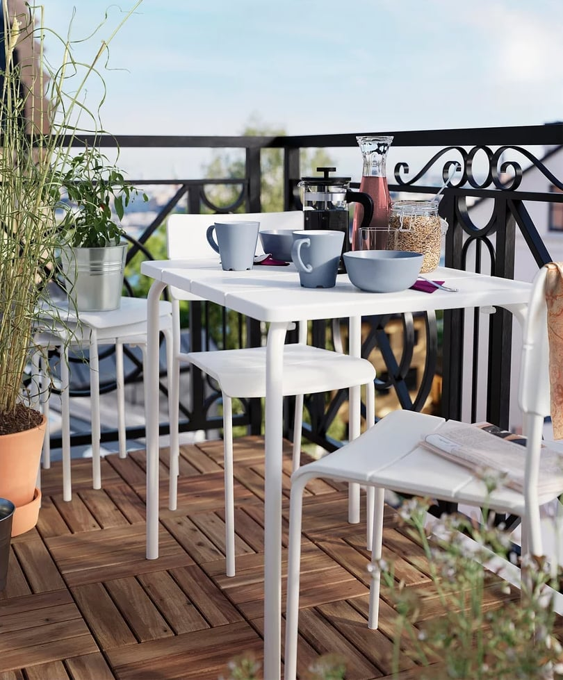 Small Patio?Ikea Can Help in a BIG Way With These Space-Saving Furniture Picks (For Crazy Cheap)