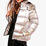 Boohoo Petite Charis Metallic Padded Jacket