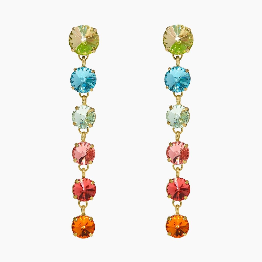 Roxanne Assoulin Technicolor Rainbow Earrings