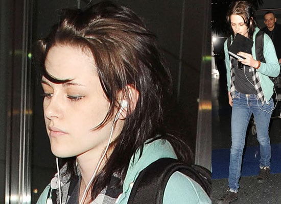 Photos of Kristen Stewart Arriving at JFK Airport in New York City to do More Promotion For The Runaways