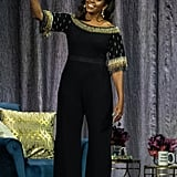 Michelle Obama Beaded Stella McCartney Jumpsuit on Book Tour