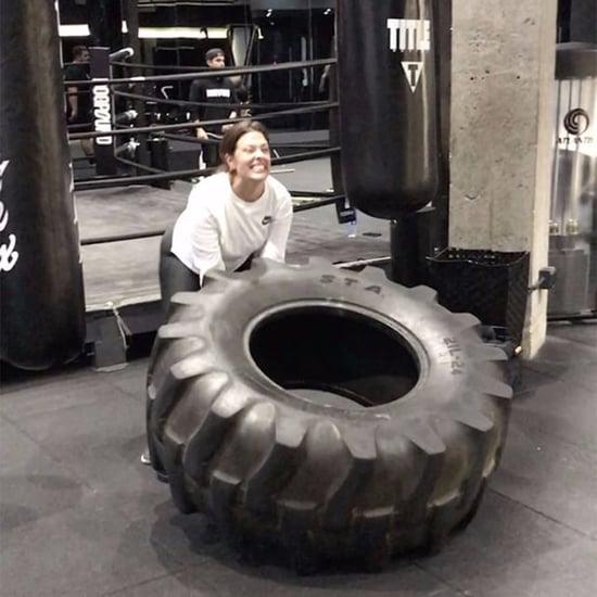 Ashley Graham Flipping Tire