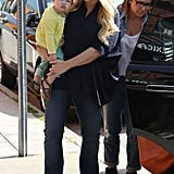 Jessica and Ashlee Have a Family Date With Maxwell and Bronx
