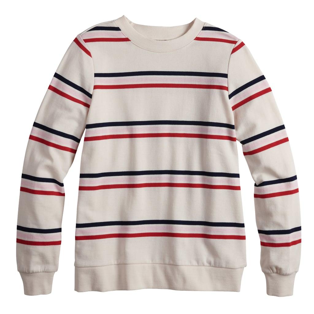 POPSUGAR Striped Sweatshirt