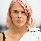 What do you wear with pastel pink hair? A matching lip color, of course. Source: Le 21ème | Adam Katz Sinding