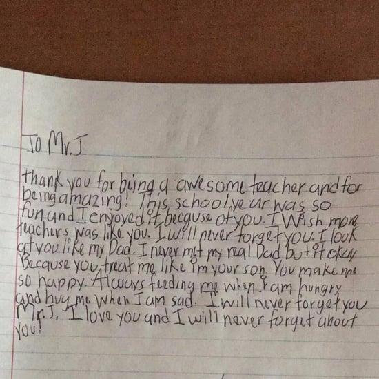 Student's Note to Teacher He Won't Forget