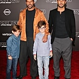 Ricky Martin and His Sons at the Rogue One World Premiere
