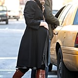 Claire Danes and Hugh Dancy caught a cab in NYC.