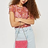 Topshop Beaded Shoulder Bag