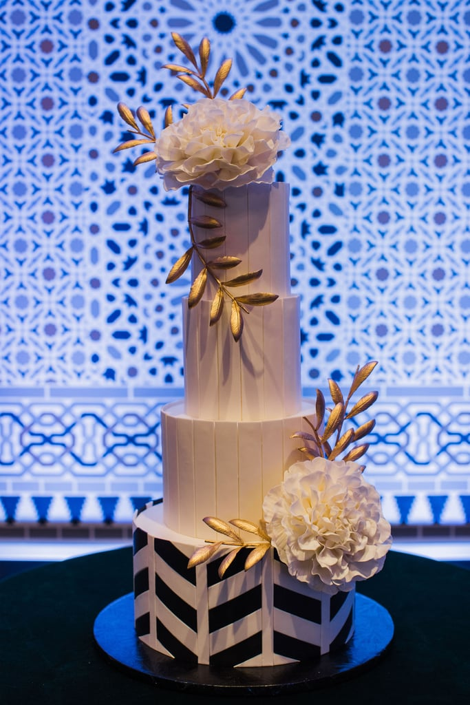 Gold-Accented Cake