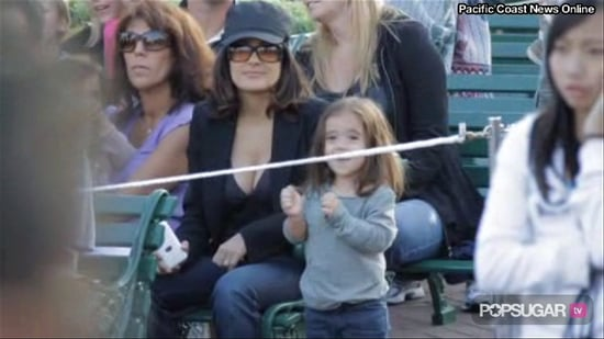 Video of Salma Hayek and Daughter Valentina Pinault at Disneyland
