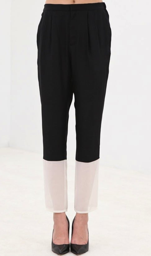 These AR colorblocked silk trousers ($106, originally $425) are undeniably chic — and the black and white color combination will ensure you can wear it for many years.