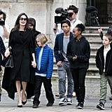Six: The number of children Angelina has (her kids' names are Maddox Chivan, Pax Thien, Zahara Marley, Shiloh Nouvel, Knox Leon, and Vivienne Marcheline). 27: The age at which Angelina adopted her eldest son Maddox, initially raising him as a single mother. Five: The number of countries where her children were born (Maddox was born in Cambodia, Pax in Vietnam, Zahara in Ethiopia, Shiloh in Namibia, and Knox and Vivienne in France.