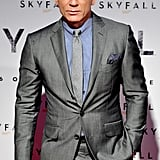 Daniel Craig looked dapper in a suit.