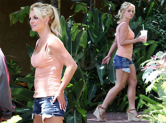 Pictures of Britney Spears at a Recording Studio in LA