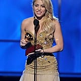 Shakira was so happy on stage.