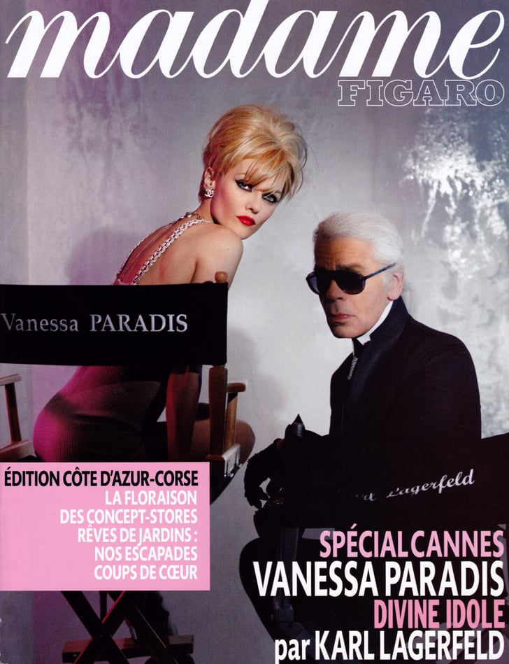 Vanessa Paradis and Karl Lagerfeld on Madame Figaro Magazine 2010-05-17 12:00:22