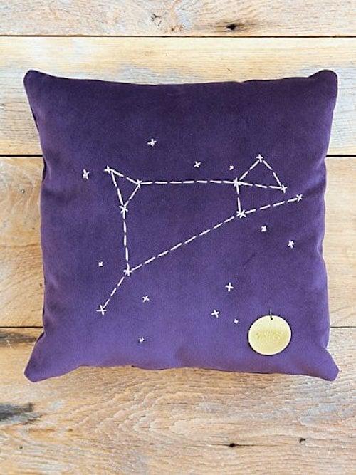 Aries Star Sign Pillow ($98)