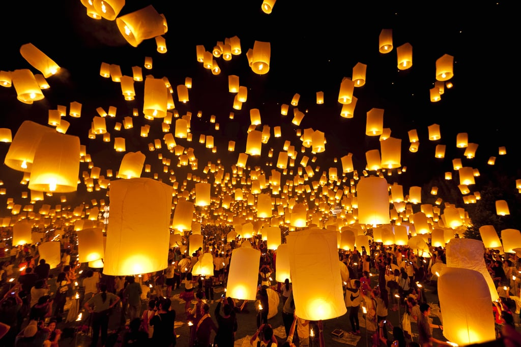 Attend a Floating Lantern Festival in Thailand