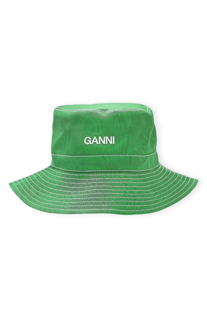 Ganni Moiré Bucket Hat