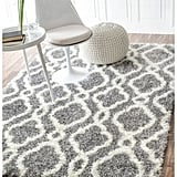 nuLoom Soft and Plush Looped Diamond Shag Grey Rug ($350)