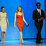 Pictured: Paige Turco, Eliza Taylor, and Isaiah Washington.