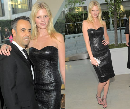 Photos of Lara Stone in Calvin Klein at the 2010 CFDA Awards