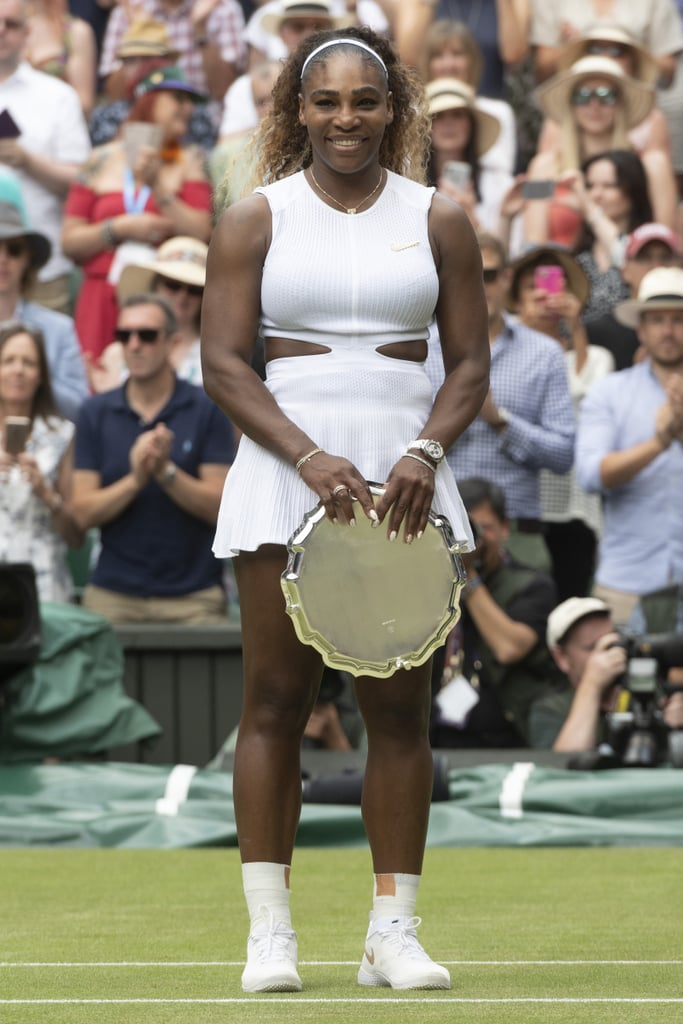 Serena Williams Stood Tall in Her Angelic White Dress