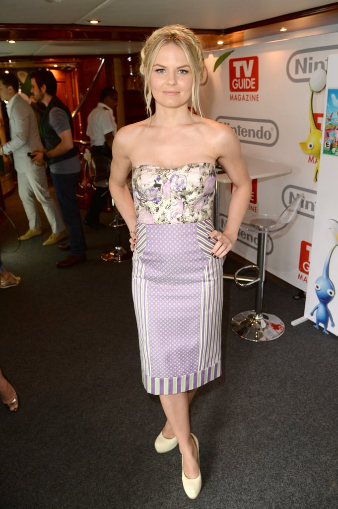 Jennifer Morrison took a break on board TV Guide's Comic-Con yacht in a strapless Philosophy look that combined florals and stripes.