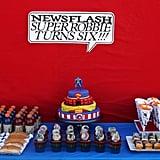 Vintage Superhero Cake
