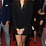Julia began her red carpet reign at the NYC premiere of Steel Magnolias in the type of look she still reaches for today: oversize suiting and a miniskirt to show off her toned legs.