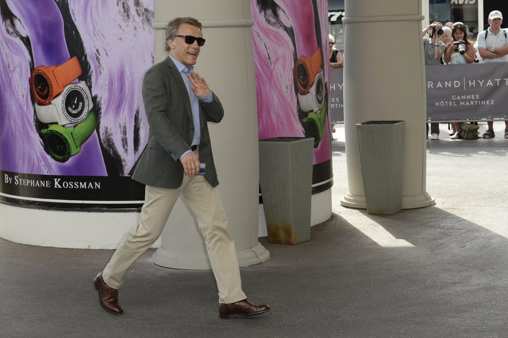 Christoph Waltz arrived in Nice, France, for the Cannes Film Festival.