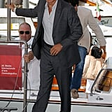 George Clooney looked dapper in Venice.
